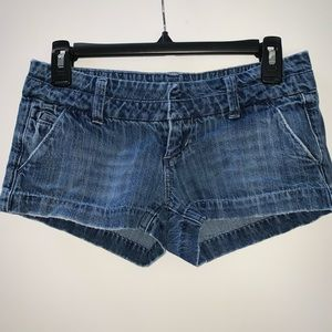 American Eagle Distressed Chino Denim Short Size 0